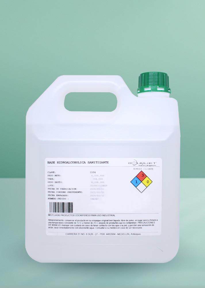 18. Base hidroalcoholica sanitizante